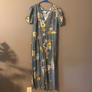 Floral jumpsuit new with tags
